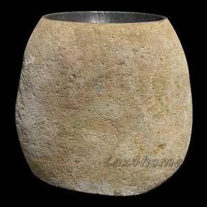 river stone sink pedestal