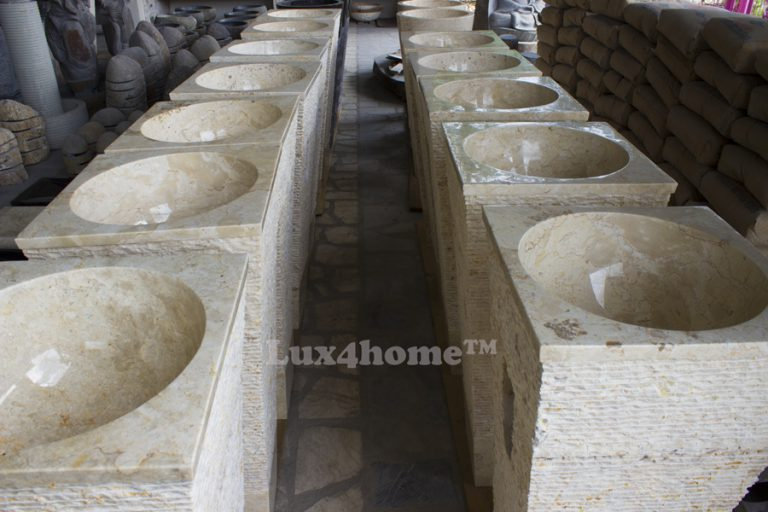 pedestal marble sink
