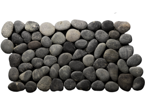 Bali Black grey pebble border
