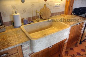 marble kitchen sink
