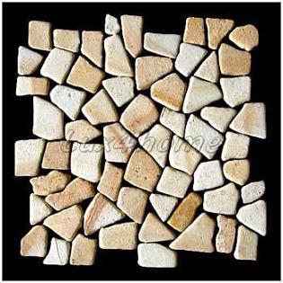 Yellow sand stone mosaic