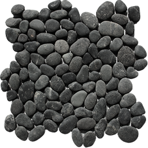 black pebble tiles - Indonesia