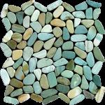 green slice pebble tiles