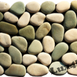 White and green pebble mosaic