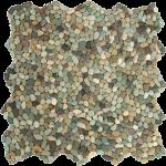 mini green pebble tiles