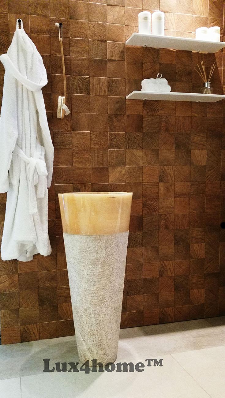 free standing stone wash basin - Pedestal Stone Sink