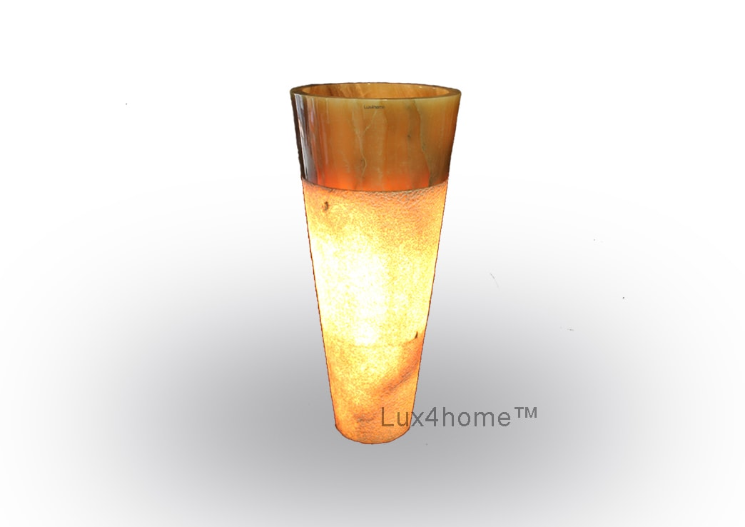lighted onyx sink pedestal - Illuminated Onyx Sink