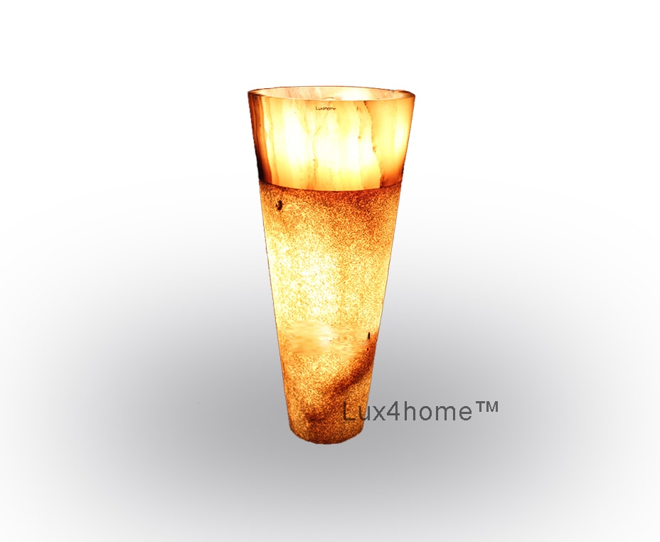 lighted onyx sink pedestal - Illuminated Onyx Sink