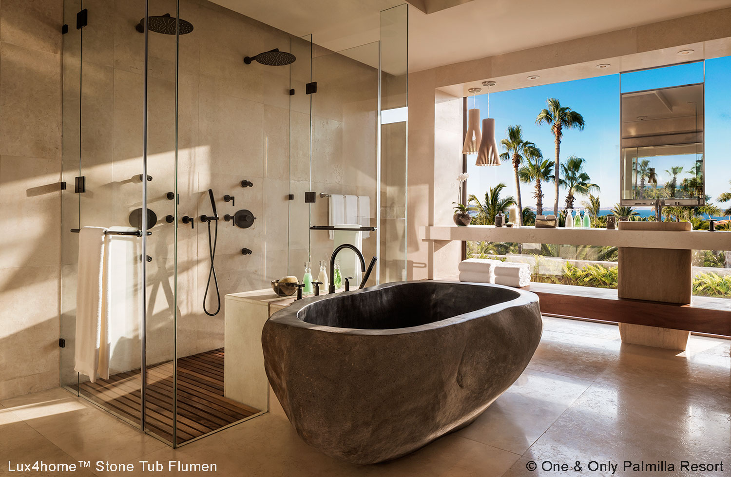 River Stone Tub - Soaking Bathtub