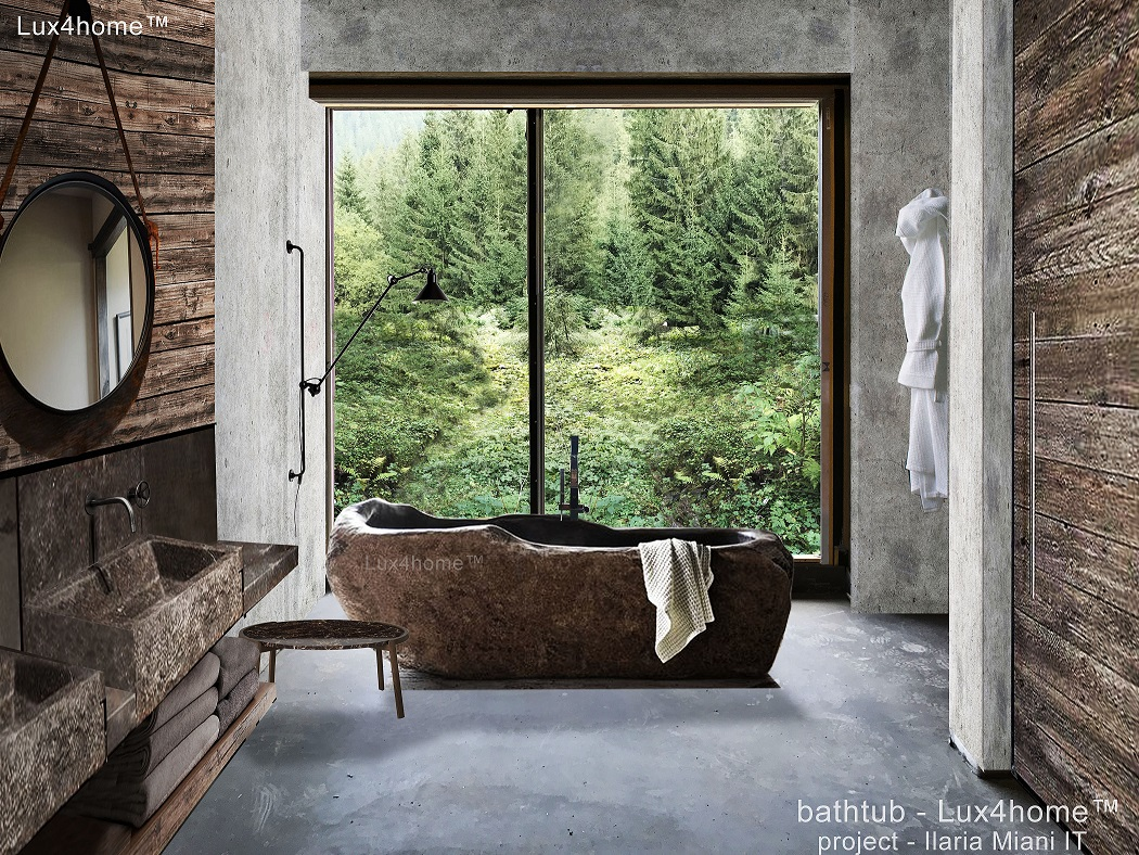 River Stone Bathtub