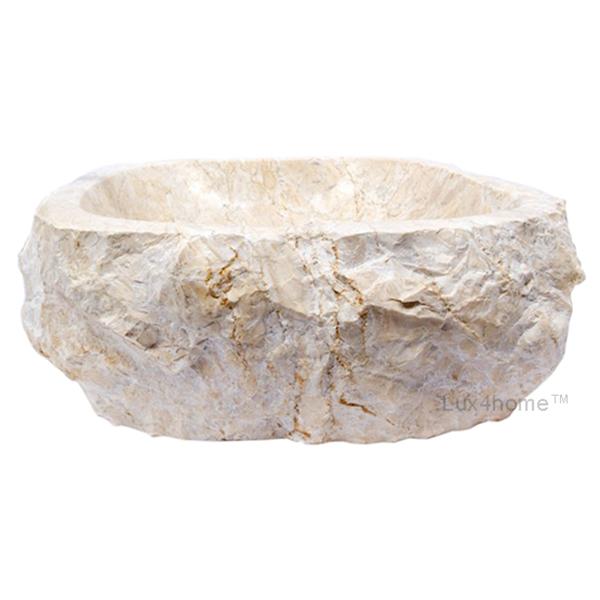 Natural Stone Sink - Cream Jurrasic Marble