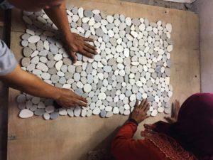 Pebble Tiles Production
