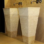 freestanding marble stone washbasins