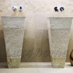 modern stone pedestal wash basin