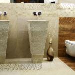 pedestal stone basins
