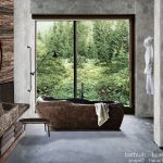 River Stone Bathtub Bathroom