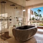 stone freestanding tub