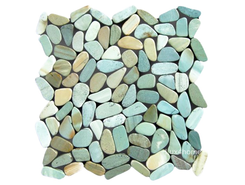 Green Natural Pebble Mosaics