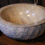 Bege marble sink - Marble vanity sink