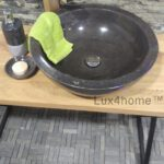 black marble wash basin bowl
