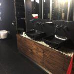 stone countertop bathroom sink