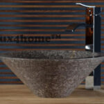 grey marble stone bathroom sink