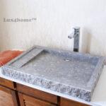 Flat marble basin - stone basin