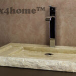 Flat marble washbasin - stone basin
