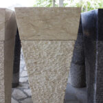 freestanding marble stone sink