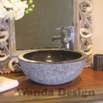 Round marble vanitty sink - Vanitty wash basins stone