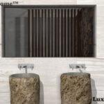 Freestanding River Stone Sinks
