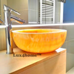 Yellow Onyx Sink - bathroom