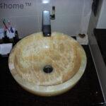Round Onyx wash basin