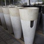 Pedestal Stone Sink - Standing Stone washbasins