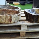 Fossil Wood Stone Washbasins