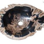 Black Petrified Wood Stone Sink
