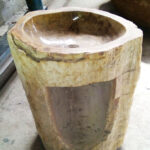 Petrified Wood Stone Sink - Pedestal Sinks