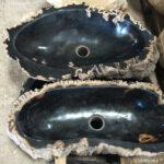 Petrified Wood Stone Washbasins