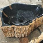 Petrified Wood Stone Washbasin