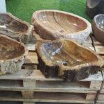 Petrified wood stone washbasins producer