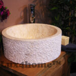stone round basin sink