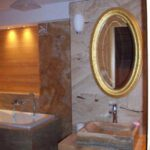 Vessel stone sink