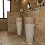 Pedesta Stone Basins Sinks bathroom interior