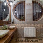 round stone bathroom sink