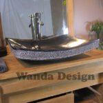flat granite sink
