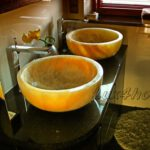 Yellow Onyx Sinks