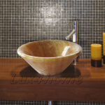 countertop onyx wash basin