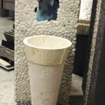 stone pedestal wash basin