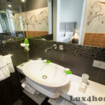 Black Pebble Tile Borders Bathroom Decor