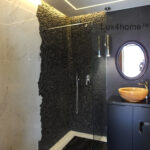 Black Pebble Tile Shower Ideas
